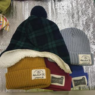 ジーユー(GU)の新品♡キッズニット帽5枚セット♡GUスリーコインズ(帽子)