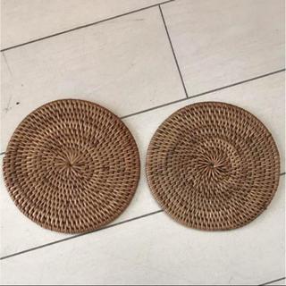 ムジルシリョウヒン(MUJI (無印良品))の無印良品 ケタック コースター 2枚セット(テーブル用品)