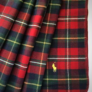 ラルフローレン(Ralph Lauren)のラルフローレン☆ウールブランケット【Red Tartan】(毛布)