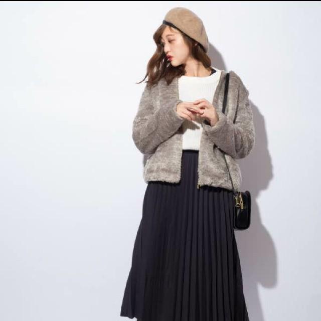 しまむら(シマムラ)のプチプラのあやさん着用☆しまむら☆フェイクファーブルゾン☆Lサイズ☆新品   レディースのジャケット/アウター(ブルゾン)の商品写真