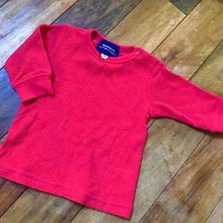 マーキーズ(MARKEY'S)のマーキーズ ワッフル生地長袖Tシャツ レッド 赤 サイズ80(Tシャツ)