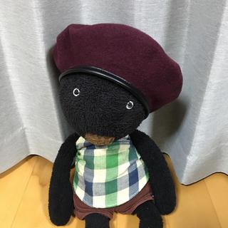 ケービーエフ(KBF)のKBF ベレー帽 パイピング ワインレッド(ハンチング/ベレー帽)