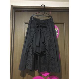 リリーブラウン(Lily Brown)のLily brown カットワーク刺繍スカートパンツ(その他)