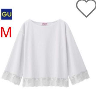 ジーユー(GU)の【新品・未開封】セーラームーン×GU レースコンビTシャツ ホワイト M(Tシャツ(長袖/七分))