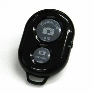 Bluetooth スマートフォン用 カメラリモコン カメラシャッター ブラック(自撮り棒)