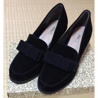 ランダ(RANDA)のRANDA リボンヒールローファー(ローファー/革靴)