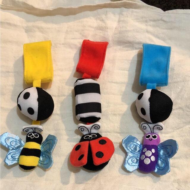 Sassy(サッシー)のサッシー Black&Whiteシリーズ ゴーゴー バグズ(3個セット) キッズ/ベビー/マタニティのおもちゃ(がらがら/ラトル)の商品写真