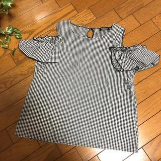 シマムラ(しまむら)の今期 タータンチェック 肩あきトップス(カットソー(半袖/袖なし))