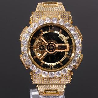 ジーショック(G-SHOCK)のG-SHOCK GA110 フルカスタム GOLD文字盤 大粒CZダイヤ(腕時計(デジタル))