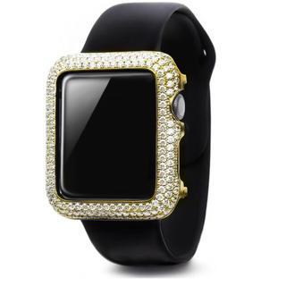 アップルウォッチ(Apple Watch)のシリーズ2・3専用  GOLD アップルウォッチ42mm カバーベゼル14k(腕時計(デジタル))