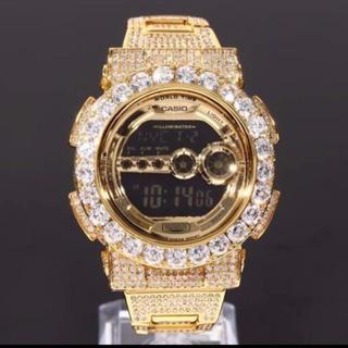 ジーショック(G-SHOCK)のG-SHOCK 直径4mm 大粒CZダイヤベゼル GD100 ゴールド(腕時計(デジタル))