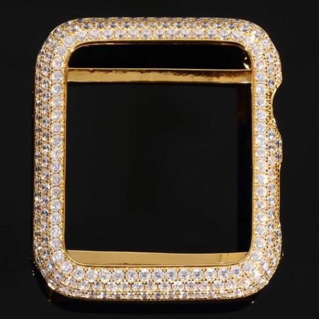 apple watch シリーズ1専用 14k gold apple watch czダイヤ42mmの通販