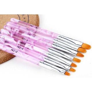 ネイル 筆 ブラシ 7本セット ネイリスト愛用(ネイル用品)