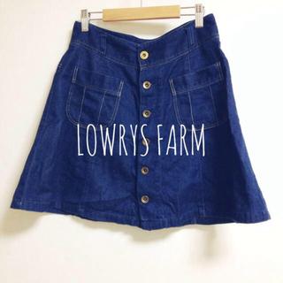 ローリーズファーム(LOWRYS FARM)の前ボタンデニムSK(ミニスカート)