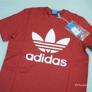 アディダス(adidas)のL【新品/即日発送OK】adidas オリジナルス デカロゴ Tシャツ レッド(Tシャツ/カットソー(半袖/袖なし))