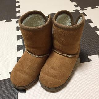 ムジルシリョウヒン(MUJI (無印良品))の無印良品 ボアブーツ ムートン ファー 15〜16cm(ブーツ)