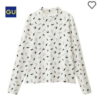 ジーユー(GU)のセーラームーン GU 大型店限定 総柄 タートル 長袖 M 白(Tシャツ(長袖/七分))
