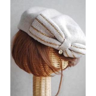 フルラ(Furla)の美品◆FURLA◆ リボンベレー帽(ハンチング/ベレー帽)