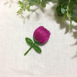 刺繍ブローチ アザミ(ブローチ/コサージュ)