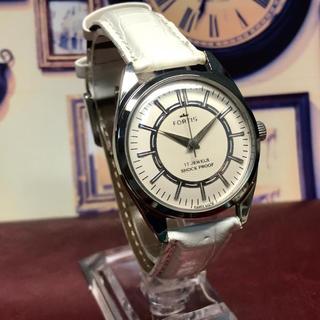 フォルティス(FORTIS)の70's Vint. FORTIS 手巻き メンズウォッチ OH済 ホワイト(腕時計(アナログ))
