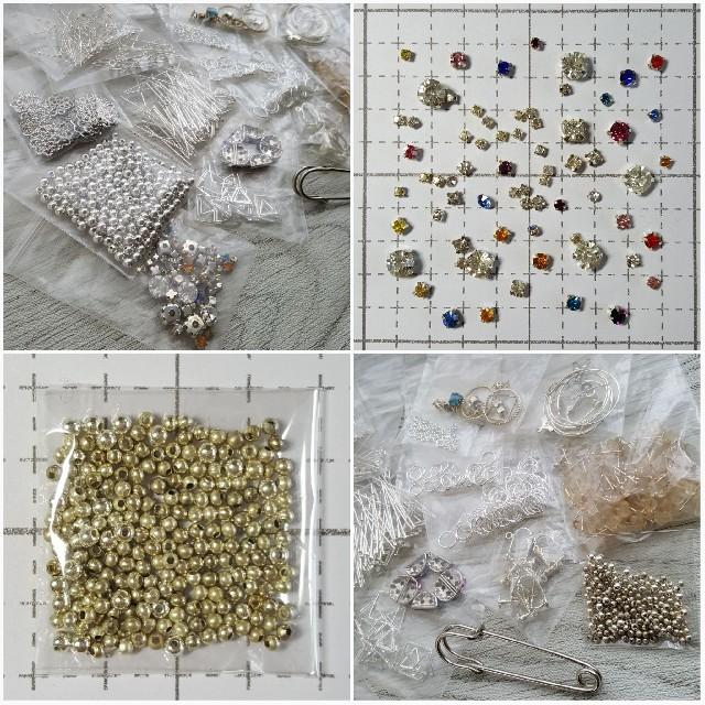 【素材おすそわけ】初心者さん向け 基礎パーツ シルバー 一部変色あり ハンドメイドの素材/材料(各種パーツ)の商品写真