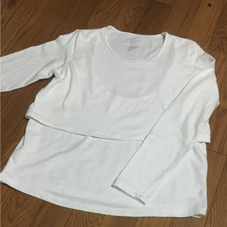 ムジルシリョウヒン(MUJI (無印良品))の無印  長袖Tシャツ 授乳服 M〜L(マタニティウェア)