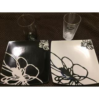 レフィーネ(Refine)の新品未使用❗️Refine グラス&プレート ペア (食器)