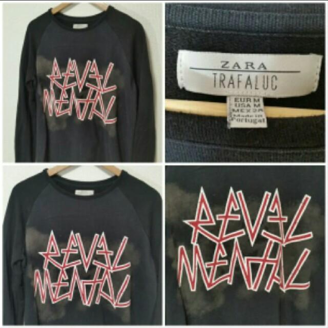 ZARA(ザラ)のZARA ザラ スウェット トレーナー 黒 M メンズのトップス(スウェット)の商品写真