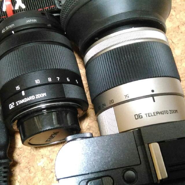 PENTAX(ペンタックス)のPENTAX Q-S1 ダブルズームセット ガンメタル 06168 スマホ/家電/カメラのカメラ(ミラーレス一眼)の商品写真