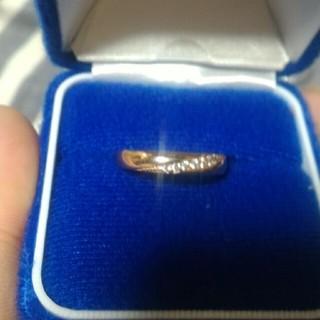 ピンクゴールのジルコニア指輪(リング(指輪))