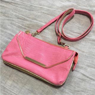 オペーク(OPAQUE)のOPAQUE ショルダーバッグ クラッチバッグ 財布 ピンク ローズバッド(ショルダーバッグ)