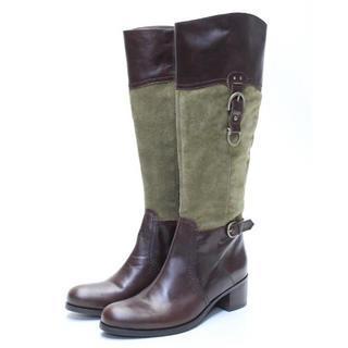 サヴァサヴァ(cavacava)のcavacava 本革切り替えベルトブーツ(23cm)美品♪(ブーツ)