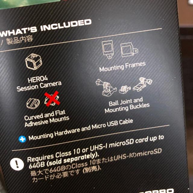 GoPro(ゴープロ)のGoPro HERO4 session スマホ/家電/カメラのカメラ(コンパクトデジタルカメラ)の商品写真