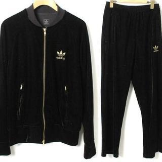 アディダス(adidas)のadidas ベロア ジャージ セットアップ XS 黒 金 ブラック ゴールド(ジャージ)