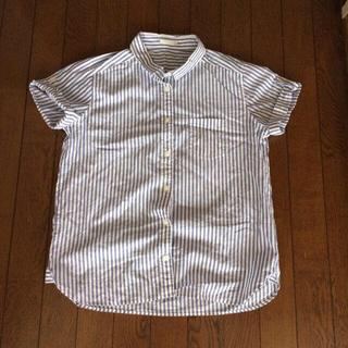 ジーユー(GU)のGU☆ストライプシャツ(シャツ/ブラウス(半袖/袖なし))