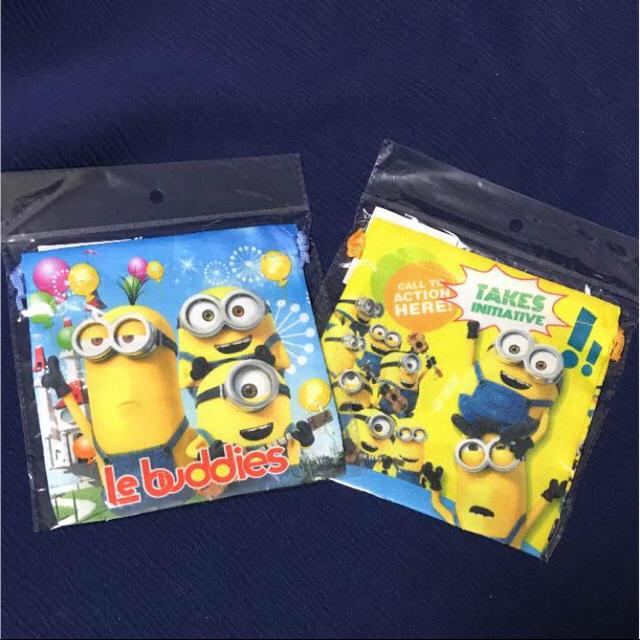 新品未使用 ミニオンズ カラフル巾着袋 2枚セット エンタメ/ホビーのおもちゃ/ぬいぐるみ(キャラクターグッズ)の商品写真