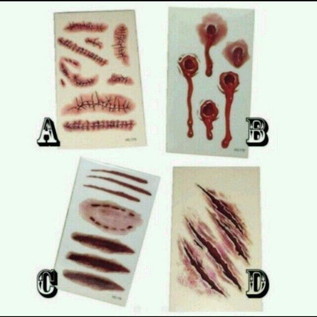 組み合わせ自由☆傷痕シール エンタメ/ホビーのコスプレ(小道具)の商品写真