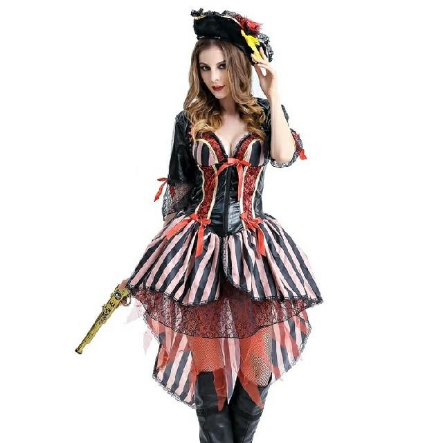 残りわずか☆パイレーツガール女海賊コスプレ衣装(M)☆Dハロ等 エンタメ/ホビーのコスプレ(衣装)の商品写真