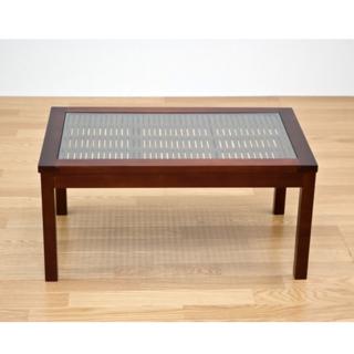 アジアン家具 ガラスセンターテーブル ローテーブル(ローテーブル)
