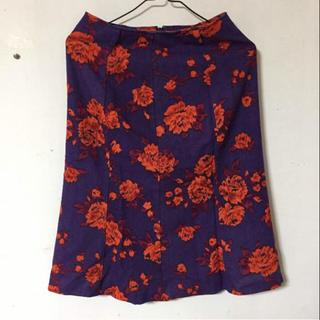 シンシア(cynthia)のcynthia  ウール  冬物  スカート  日本製  M 秋物(ひざ丈スカート)
