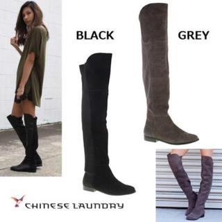 チャイニーズランドリー(CHINESE LAUNDRY)のチャイニーズランドリーニーハイブーツ ブラック(ブーツ)