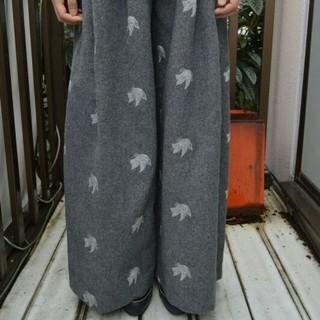 ミキオサカベ(MIKIO SAKABE)のK3さま専用です◇mikio sakabe 鳥柄刺繍のワイドパンツ はかまパンツ(その他)