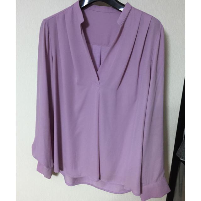 ViS(ヴィス)のとろみシャツ ブルーピンク VIS レディースのトップス(シャツ/ブラウス(長袖/七分))の商品写真