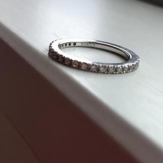 ヴァンドームアオヤマ(Vendome Aoyama)のダイヤモンド ハーフエタニティ ピンキーリング(リング(指輪))