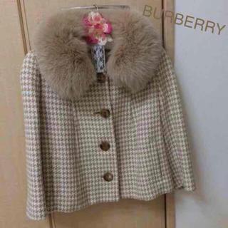 バーバリー(BURBERRY)のバーバリーロンドン ファー付き ジャケットコート(毛皮/ファーコート)
