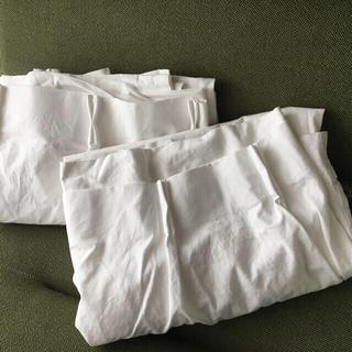 ムジルシリョウヒン(MUJI (無印良品))の無印良品 綿帆布プリーツカーテン オフ白(カーテン)