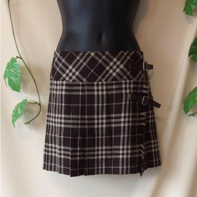 BURBERRY BLUE LABEL(バーバリーブルーレーベル)のバーバリーチェックが素敵♪バーバリーブルーレーベル巻きスカート レディースのスカート(ひざ丈スカート)の商品写真