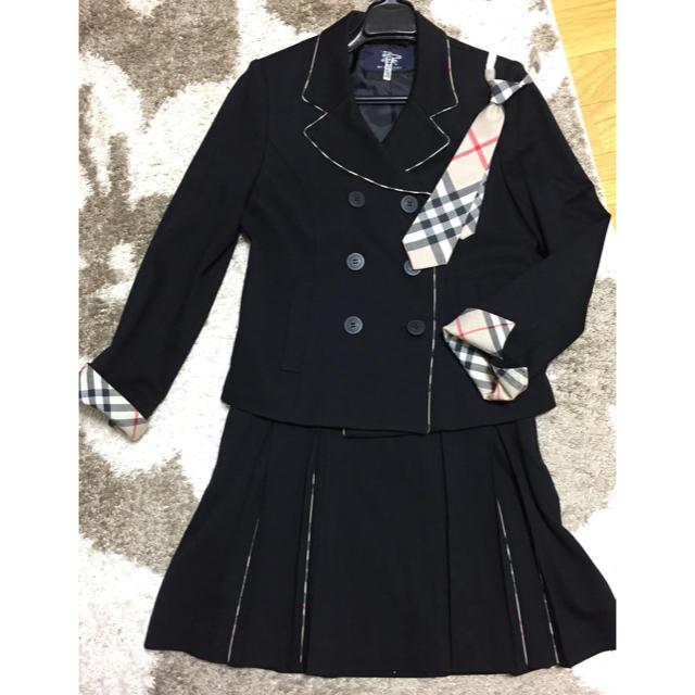 fd16b6a4fb0fb BURBERRY - 美品☆バーバリー☆かわいいスーツ 160 黒 卒業式 発表会の ...