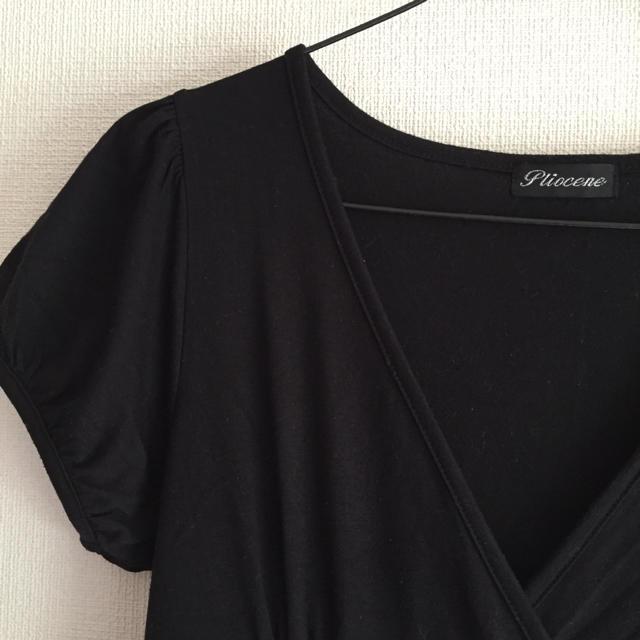 黒のバルーンワンピ レディースのワンピース(ひざ丈ワンピース)の商品写真