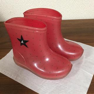 アニエスベー(agnes b.)のアニエス・ベー 13cmサイズ レインシューズ 赤(長靴/レインシューズ)
